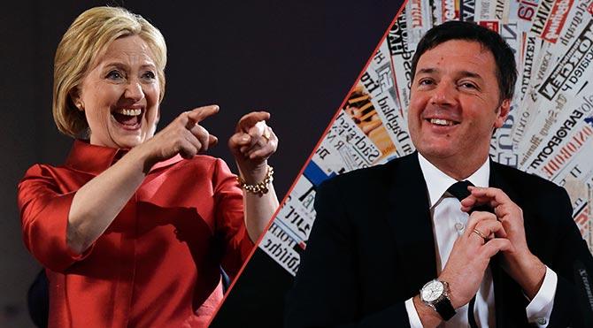 İtalyan Başbakan'dan Clinton'a Destek