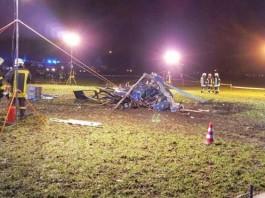 Almanya'da Polis Helikopteri Düştü!