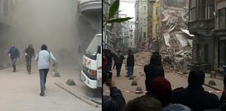 Beyoğlu'nda 5 Katlı İki Bina Çöktü!