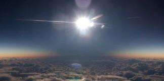 İşte Uçaktan Güneş Tutulması!
