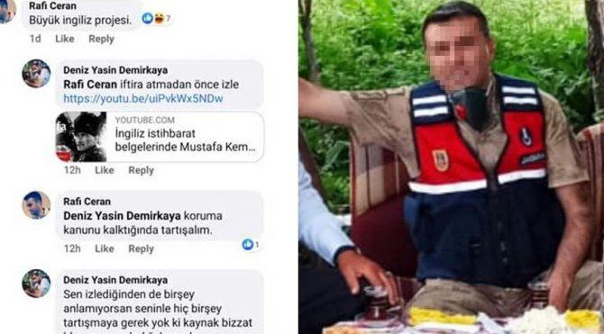 Atatürk'le ilgili iğrenç paylaşım yapan Astsubay görevden uzaklaştırıldı