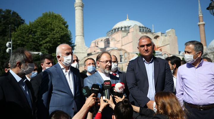 Diyanet İşleri Başkanı Erbaş Ayasofya'yı inceledi: 2 imam, 4 müezzin atanacak