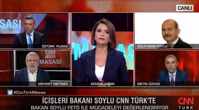 Süleyman Soylu'dan Mehmet Metiner'e ayetli gönderme