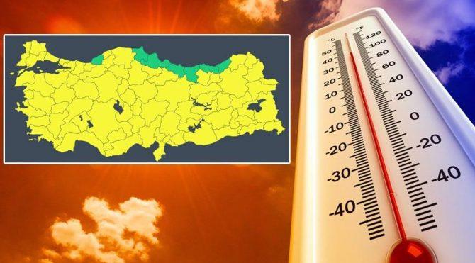 Meteoroloji'den 74 ile hava sıcaklığı yükseliyor uyarısı