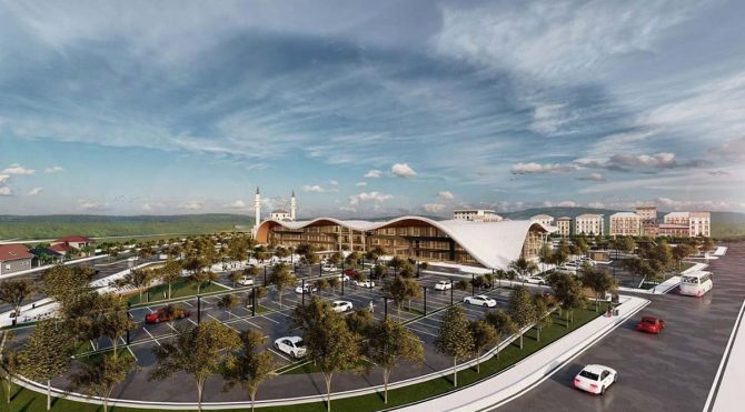 Trabzon'a yapılması planlanan terminal projesi'de dere yatağında