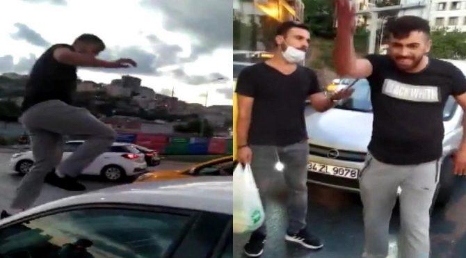 Trafikte tartıştığı kadına kâbusu yaşatan zorba'ya tepki yağdı