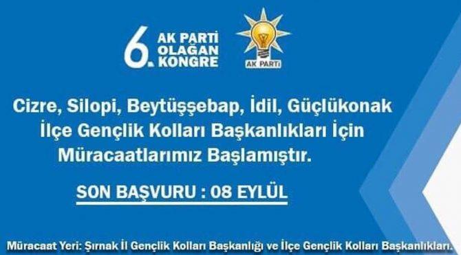 AKP ilanla gençlik kolları başkanı arıyor