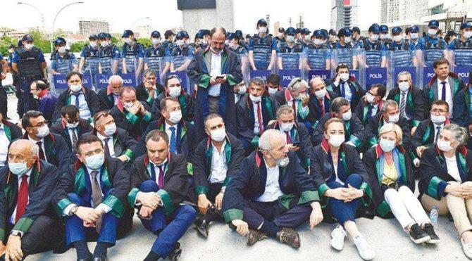 AKP mitingleri serbest,baro seçimleri yasak!