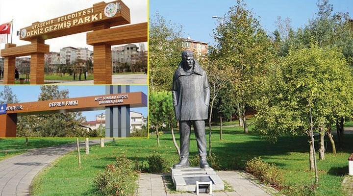 Ateşehir'de bulunan Deniz Gezmiş Parkı'nın ismi 'Deprem Parkı' olarak değiştirildi