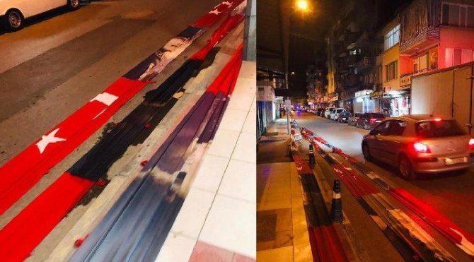 Türk bayrağının yola serilmesine soruşturma