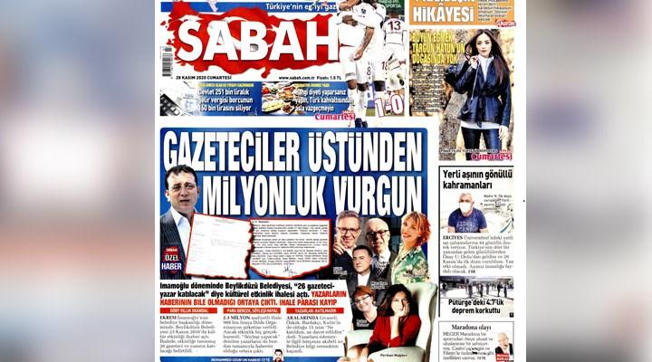 Beylikdüzü Belediyesi'nden Sabah' gazetesinin manşetine yanıt