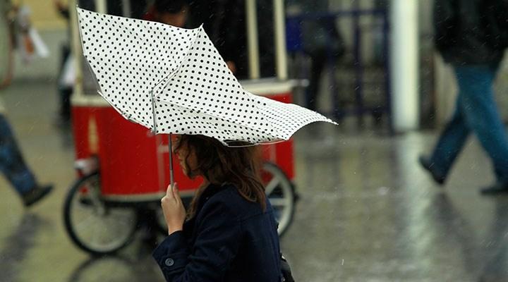 Meteoroloji'den İstanbul için sağnak yağış uyarısı