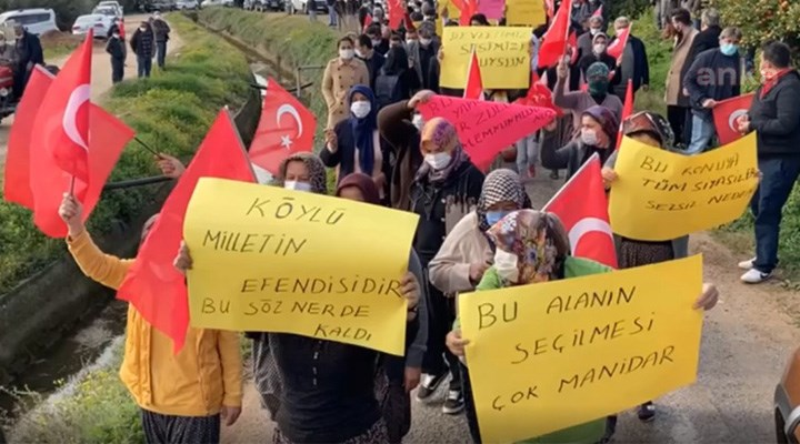 Köy arazilerinin kamulaştırmasına çiftçiler isyan etti