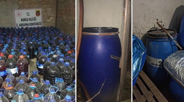 Manisa'da sahte içki operasyonu : 3 bin 365 litre ele geçirildi