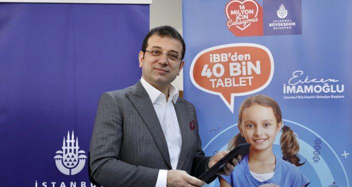 İBB öğrencilere 40 bin tablet dağıtımına başladı