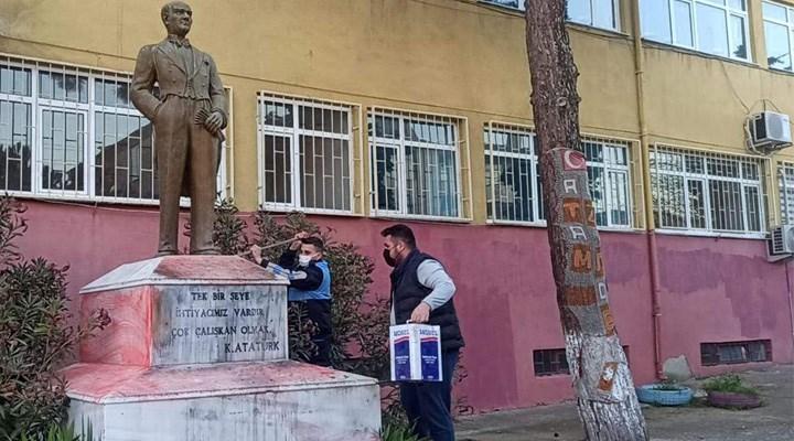 Bakan Soylu: Atatürk büstüne saldıran zanlı yakalandı
