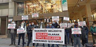 CHP'li Bakırköy Belediyesi işçileri: Toplu sözleşme hakkımızı istiyoruz