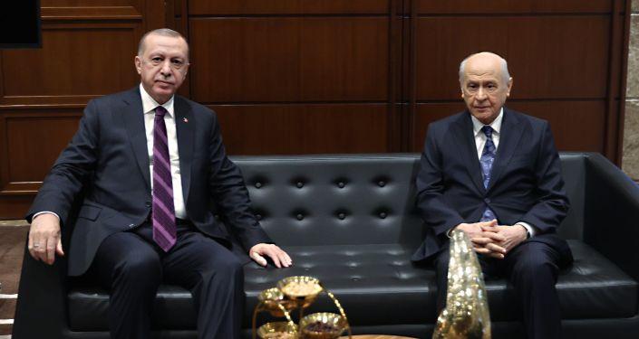 Erdoğan, Bahçeli'yi evinde ziyaret etti