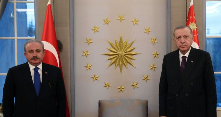 Erdoğan, TBMM Başkanı Şentop ile görüştü