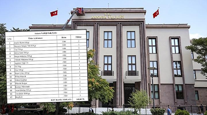 """""""Ankara Valiliği, yurttaşlardan ramazan kolisi istiyor"""" iddiası"""