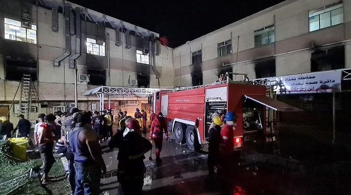 Bağdat'ta pandemi hastanesinde çıkan yangında ölü sayısıı 82'ye yükseldi