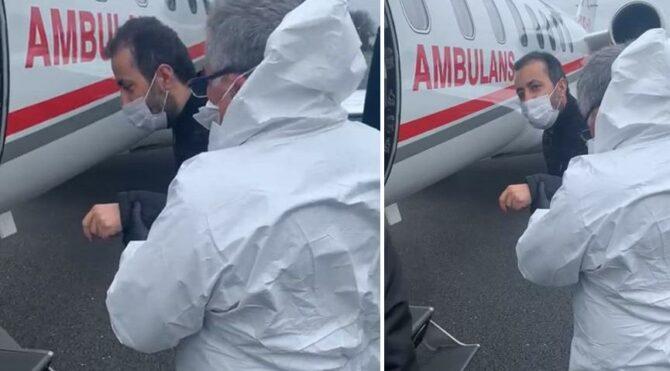 Coronahastası Londra'danambulans uçakla Türkiye'ye getirildi