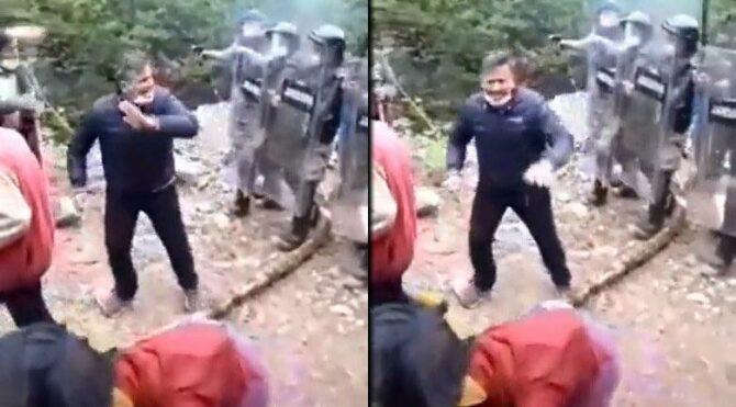 İşkencedere'de Jandarma köylüye biber gazı silahı doğrulttu
