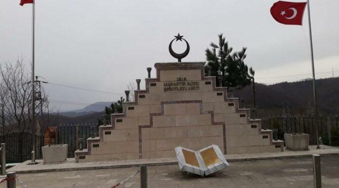 Manastır Şehitleri Anıtı, başvuru üzerine 'Tekke Şehitliği' diye değiştirildi.