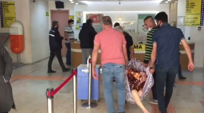 Poliklinikte hastanın battaniyeyle taşınma görüntülerine soruşturma
