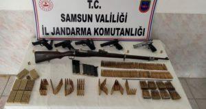 Samsun'da cephanelikle yakalanan şahıs, adli kontrolle serbest bırakıldı