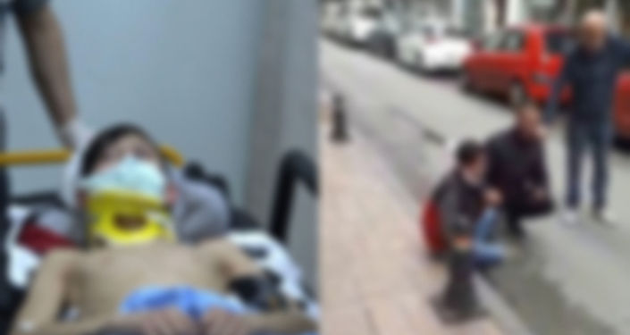 Sokakta saldırıya uğrayan gencin başına ekmek bıçağı saplandı