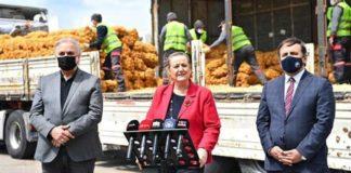 Şov'lu patates dağıtımına tepki