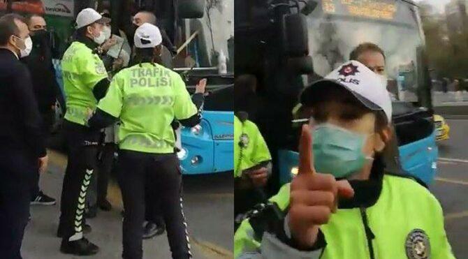 Trafik polisinin vatandaşla tartışması gündem oldu