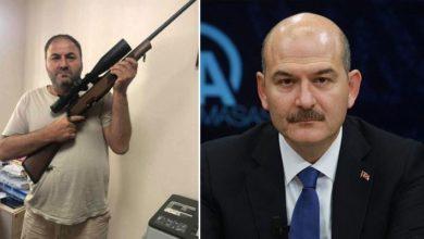 Bakan Soylu'ya tüfekle destek veren din öğretmeni hakkında inceleme