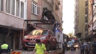Beşiktaş'ta çökme tehlikesi olan 6 katlı bina boşaltıldı
