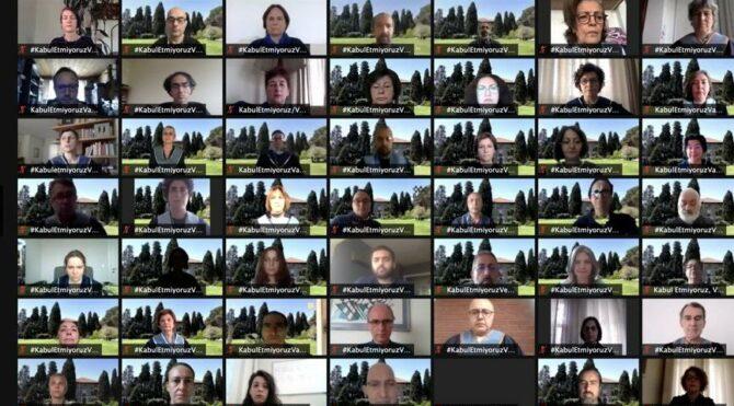 Boğaziçili akademisyenler rektör protestosuna tam kapanmada çevrimiçi devam ettiler