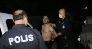 'Dur' ihtarına uymayıp kaçan şahıs yakalanınca 'Polis benim baş tacım' dedi
