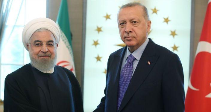 Erdoğan, Ruhani ile Filistin'i görüştü