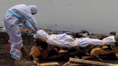 Hindistan'daki Ganj Nehri'nden korona'dan ölen 71 kişinin cansız bedeni kıyıya vurdu.