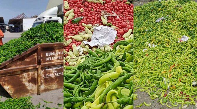Semt pazarları kapalı olunca çiftçi'nin ürünü çöpe gitti