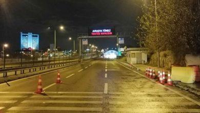 Avrasya Tüneli'nde araç yangını nedeniyle tüm şeritler trafiğe kapatıldı.