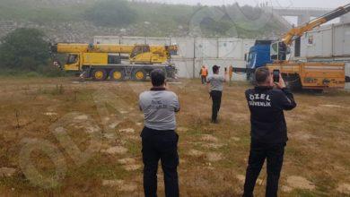 İBB ekipleri İSKİ arazisine kurulan 'Kanal İstanbul' şantiyesini tahliye etti