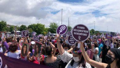 Kadınlar, İstanbul Sözleşmesi kararının iptali için Danıştay'ın önünde toplanıyor
