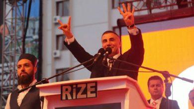 Sedat Peker, AKP için Rize dışında 9 yerde daha miting yaptığını paylaştı