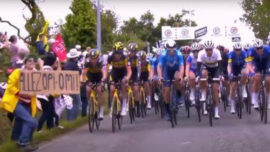 Fransa Bisiklet Turu'nun açılışında 50 bisikletçiyi düşüren kadın gözaltına alındı
