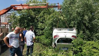 Samsun'da ehliyet sınavında sürücü adayının kullandığı araç takla attı