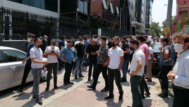 Şirket yöneticisi öldürülen SAS Holding önünde eylem