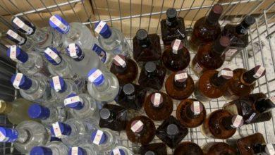 Tekirdağ'ın Malkara ilçesinde 545 litre sahte içki ele geçirildi