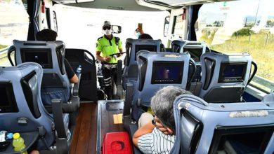 Karantinada olması gereken 3 şahıs şehirlerarası otobüste yakalandı