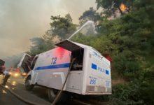 TOMA'lar yangın bölgesinde